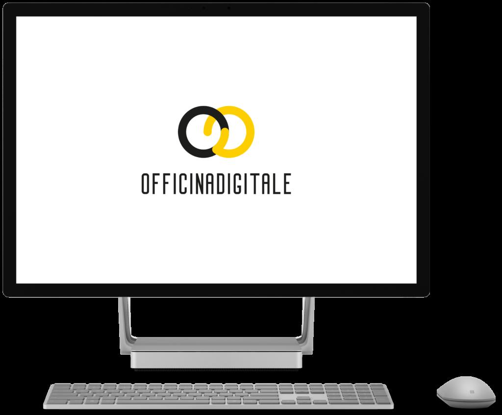 Computer con logo officinadigitale